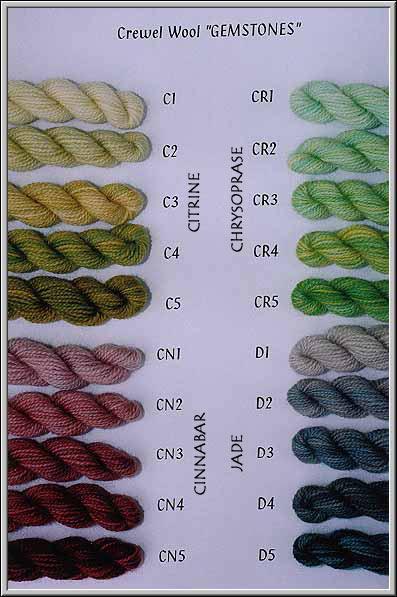 2-ply wool GEMSTONES