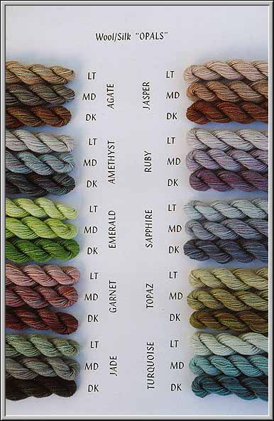 silk & wool OPALS
