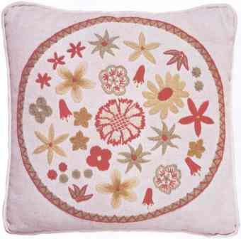 #335 Basket Of Flowers Pillow