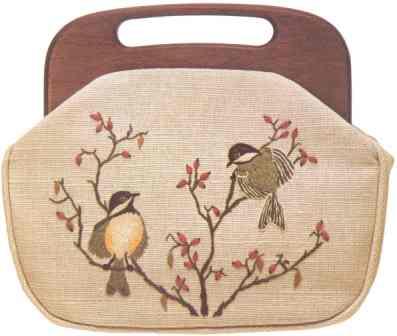#346 Black-capped Chickadees Bermuda Bag