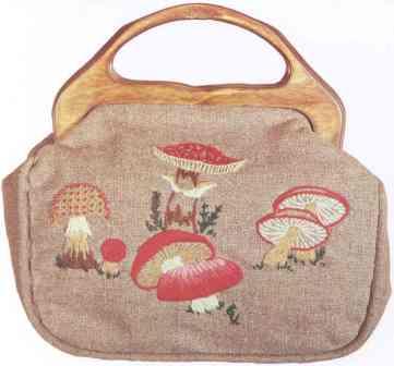 #350 Mushrooms Bermuda Bag