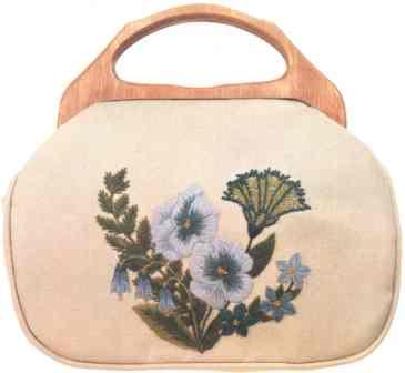 #351 Pansies Bermuda Bag