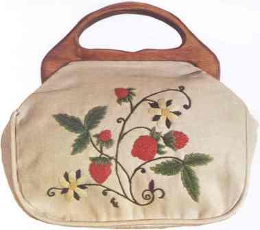 #353 Strawberries Bermuda Bag