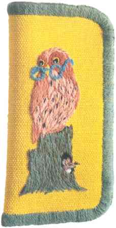 #375 Owl And Mouse Eye Glass Case