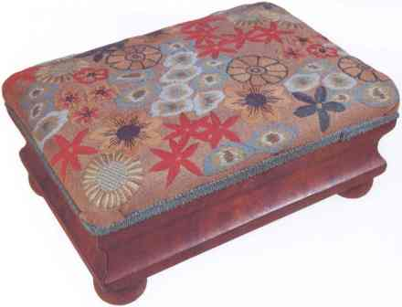 #422 Flowers Footstool Or Pillow