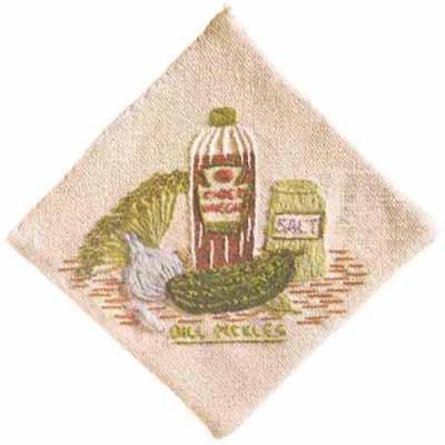 #430 Dill Pickles Decorative Potholder
