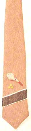 #456T Tennis Necktie on tan