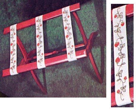 #18 - Strawberry Luggage Straps / Tie Backs