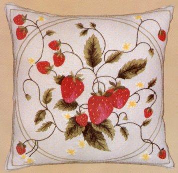 #157 - Latticed Strawberries Pillow
